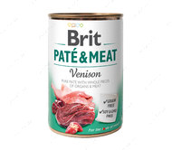 Влажный корм для собак с олениной Brit Paté & Meat Dog Venison