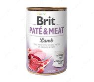 Влажный корм для собак с ягненком Brit Paté & Meat Dog Lamb