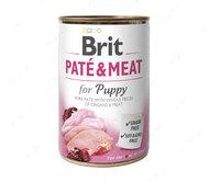 Влажный корм для щенков с курицей Brit Paté & Meat Dog Puppy