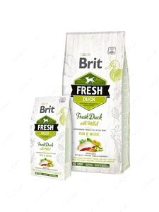 Cухой корм для взрослых собак с повышенной активностью со свежей уткой и пшеном Brit Fresh Duck With Millet Adult Run & Work