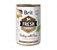 Влажный корм для собак с индейкой и горохом Brit Fresh Turkey with Peas