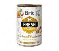 Влажный корм для собак с курицей и бататом Brit Fresh Chicken with Sweet Potato