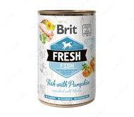Влажный корм для собак с рыбой и тыквой Brit Fresh Fish with Pumpkin