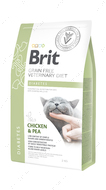 Беззерновая диета для котов при сахарном диабете Brit GF Veterinary Diets Cat Diabetes CHICKEN & PEA