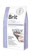 Беззерновая диета для котов при остром и хроническом гастроэнтерите Brit GF Veterinary Diets Cat Gastrointestinal
