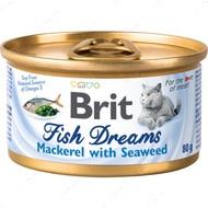 Влажный корм для кошек скумбрия и водоросли Brit Fish Dreams Mackerel & Seaweed