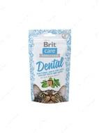 Функциональное лакомство для зубов с индейкой для котов Brit Care Dental