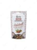 Функциональное лакомство вывод шерсти с уткой для котов Brit Care Cat Snack Hairball