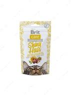 Функциональное лакомство для кожи и шерсти с лососем для котов Brit Care Cat Snack Shiny Hair