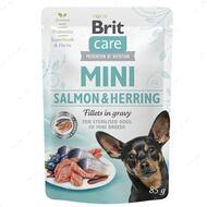 Влажный корм для собак лосось с селедкой Brit Care Mini Salmon & Herring