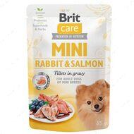 Влажный корм для собак кролик с лососем Brit Care Mini Rabbit & Salmon