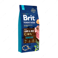 Корм с ягнятиной без пшеницы для собак всех пород с чувствительным пищеварением Brit Premium by Nature Sensitive Lamb