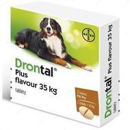 Таблетки с вкусом мяса для щенков и собак Drontal plus XL