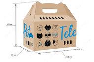 Картонный бокс переноска для транспортировки животных TelePet