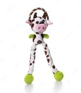 Игрушка с пищалкой для собак корова Charming Pet Thunda Tugga Leggy Cow