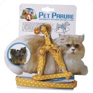 Набор шлея и поводок для кошек и собак GATTO POIS CROCI