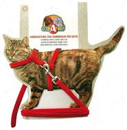 Набор шлея и поводок для кошек и собак NYLON GATTO CROCI