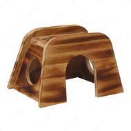 Деревянный дом мостик для грызуна CROCI