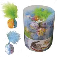 Игрушка для кота мяч цветной с пером CROCI