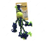 Игрушка для мелких собак мини канатный человечек CROCI