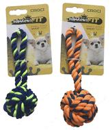Игрушка для мелких собак плетеный мяч из каната CROCI