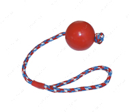 Игрушка для собак литой мяч на веревке CROCI