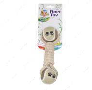 Игрушка для собак канат грейфер плетенка с мячом ECO CROCI