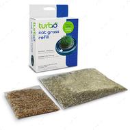 Трава для котов, комплект, зерна пшеницы Turbo Cat Grass Refill
