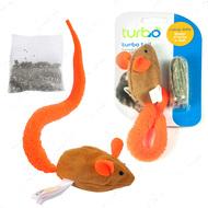 КОСТАЛ ТУРБО интерактивная игрушка для котов Turbo Tail Mouse Catnip
