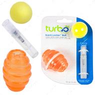 КОСТАЛ ТУРБО игрушка для котов, мяч овальный оранжевый, комплект, с кошачьей мятой Turbo Scent Locker Football