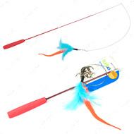 КОСТАЛ ТУРБО игрушка удочка для котов, дразнилка, оранжевый хвост, перья Turbo Tail Teaser