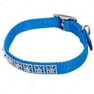 Ошейник для собак голубой Jeweled