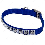 Ошейник для собак синий Jeweled