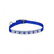 """Ошейник для собак синий Lit""""l Jeweled"""