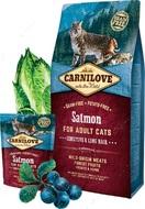 Сухой корм для кошек с чувствительным пищеварением с лососем Sensitive & Long Hair Salmon for Adult Cats