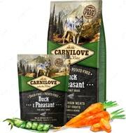 Сухой корм для взрослых собак всех пород с уткой и фазаном Carnilove Duck & Pheasant