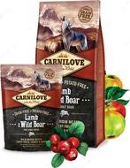 Сухой корм для взрослых собак всех пород с ягненком и диким кабаном Carnilove Lamb & Wild Boar