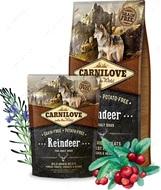 Сухой корм для взрослых собак всех пород с северным оленем Carnilove Reindeer