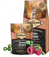 Сухой корм для щенков крупных пород с лососем и индейкой Carnilove Salmon & Turkey