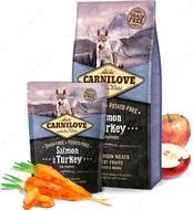 Сухой корм для щенков всех пород с лососем и индейкой Carnilove Salmon&Turkey