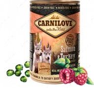 Влажный корм для щенков с лососем и индейкой Carnilove Salmon & Turkey for puppies can