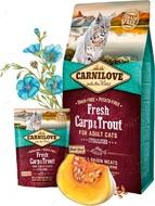 Сухой корм для кастрированных и стерилизованных кошек и котов со свежим мясом карпа и форели Carnilove Fresh Carp & Trout Sterilised