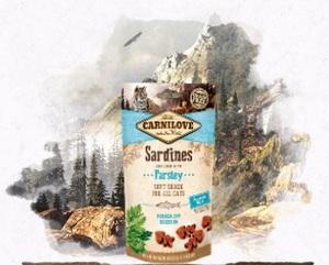 Лакомство для кошек сардина с петрушкой Carnilove Cat Crunchy Semi-Moist Sardine enriched with Parsley