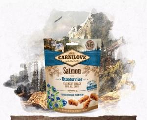 Лакомство для собак лосось и черника Carnilove Dog Crunchy Salmon with Blueberries