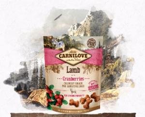 Лакомство для собак ягненок и клюква Carnilove Dog Crunchy Lamb with Cranberries