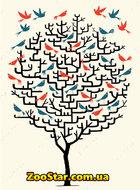 """Алмазная мозаика """"Головоломка """"Стая птиц"""", полная выкладка"""