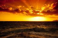 """Алмазная мозаика """"Морской закат"""", полная выкладка"""