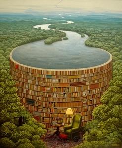 """Алмазная мозаика """"Река мудрости"""", полная выкладка"""