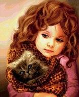 """Алмазная мозаика """"Милые красавицы"""", полная выкладка"""