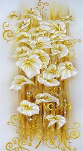 """Алмазная мозаика """"Золото на белом"""", полная выкладка"""